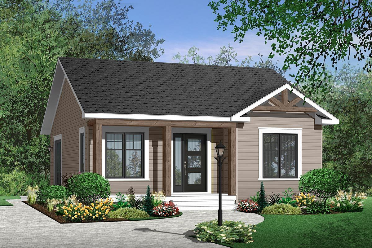 Plan 21713dr Popular Compact Cottage In 2021 Cottage Style House Plans Cottage Style Homes Bungalow House Plans