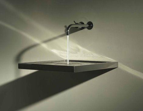 Sink With Horizontal Drain From Axolute. | Waterworks | Pinterest ... Waschbecken Design Flugelform