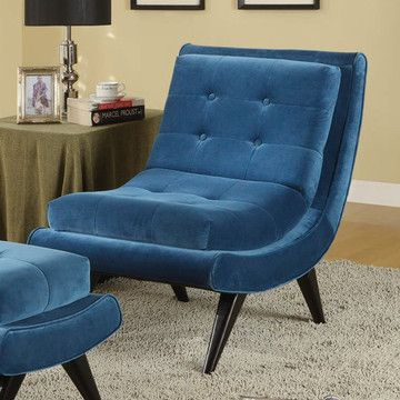 5th Avenue Lounge Chair Cerulean  by Armen Living