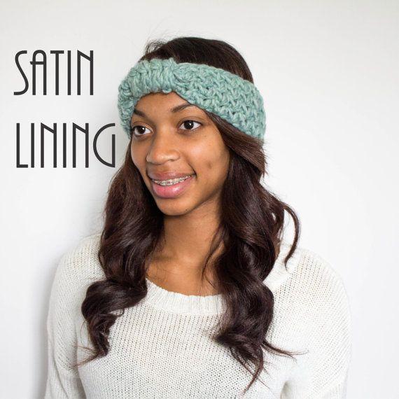 Satin Lined Headband Mint Satin Lined Turban by TagMeTrendy  ae594847f4f3