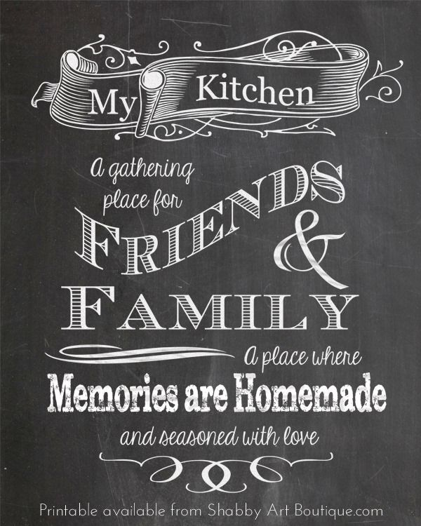 Kitchen Design Software Freeware: 5 Chalkboard Tips And A Free Printable!