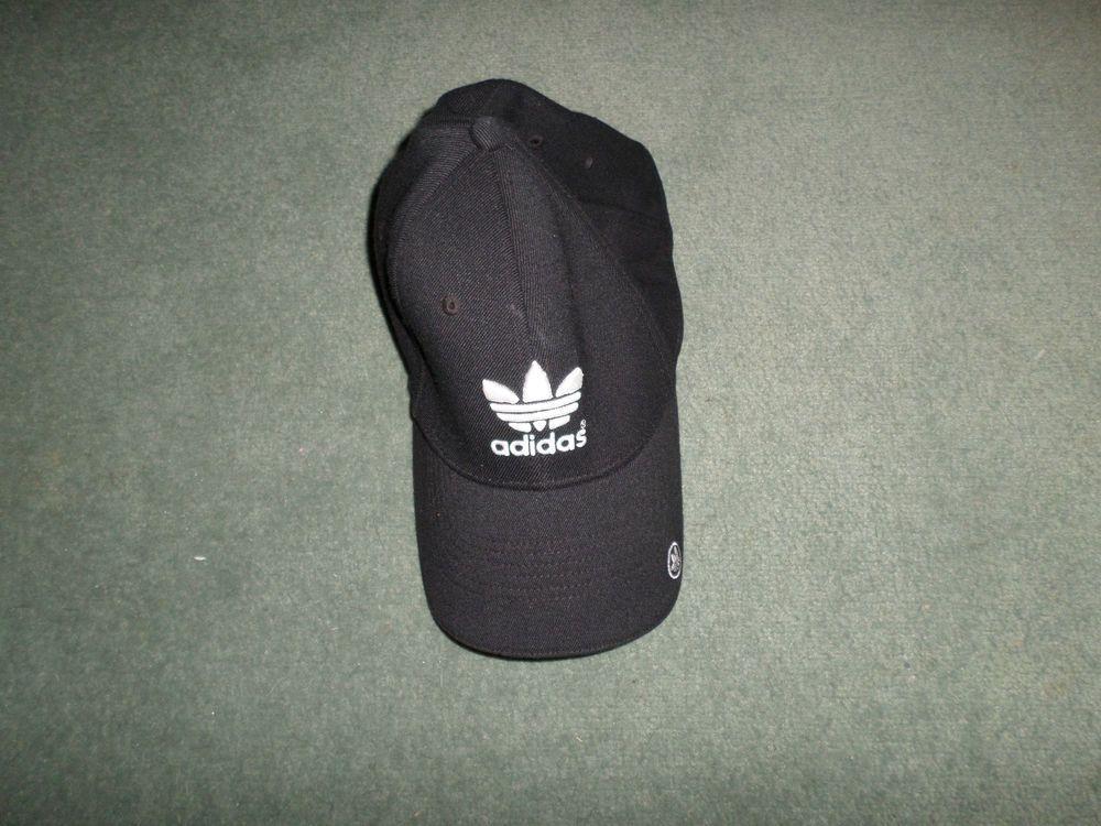 Men's Black & White ADIDAS Logo Embroidered Style Hat, Size L/XL Stretch, GUC! #adidas #BaseballCap