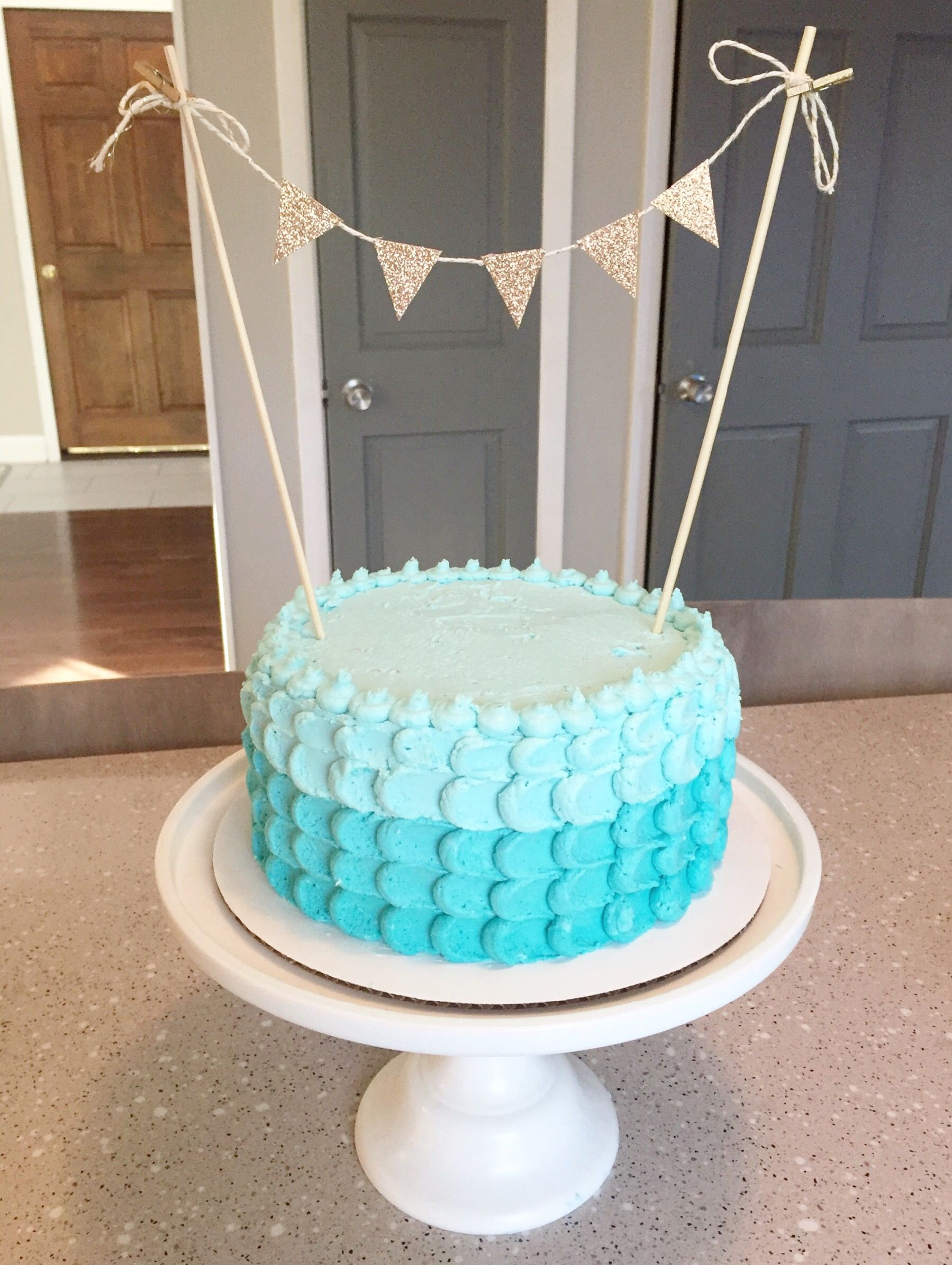Teal And Gold Homemade Birthday Cake Girl Ideas Also Olivia Party Rh Gr