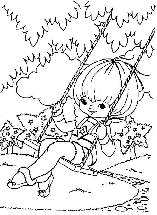 Canary Yellow Play Swing In Rainbow Brite Coloring Page Color Luna In 2020 Coloring Pages Disney Coloring Pages Cute Coloring Pages