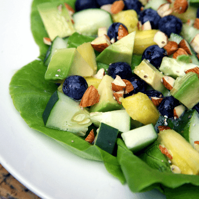 This Blueberry Pineapple Salad With Lemon Chia Seed Dressing is a great dish added to your weekly routine with these wonderful flavors. Enjoy!