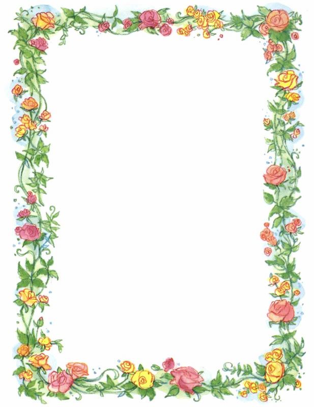 Vintage Clip Art Pretty Vintage Red Currant And Floral Border