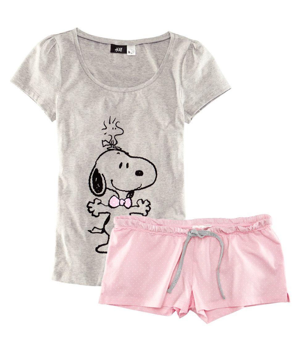 18dacf3751 H M snoopy pajamas Pajama Outfits