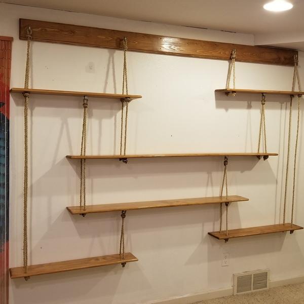 Photo of RYOBI NATION – Hanging Rope Shelves