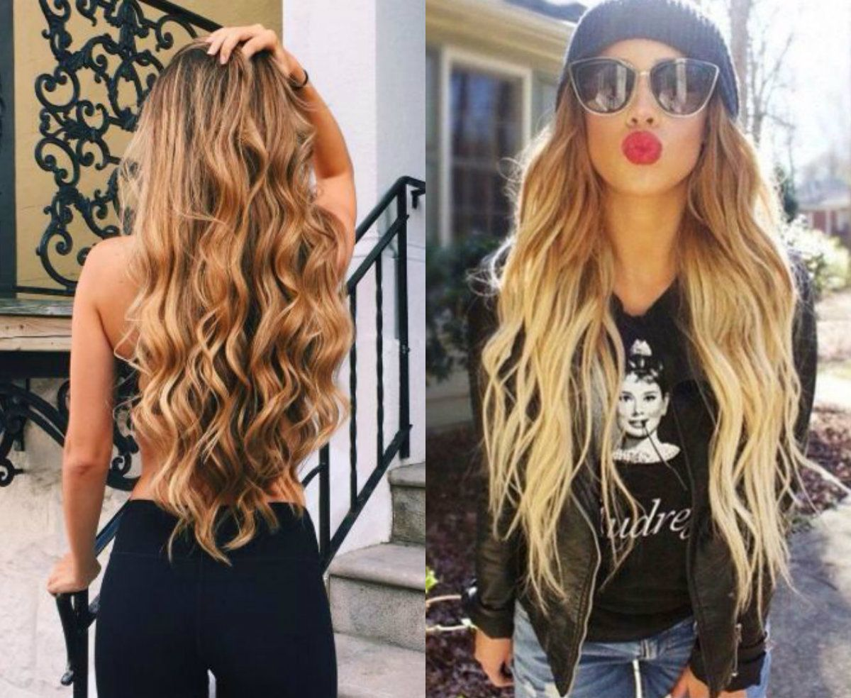 beach waves hairstyles   Hairra   Pinterest   Long wavy hairstyles ...