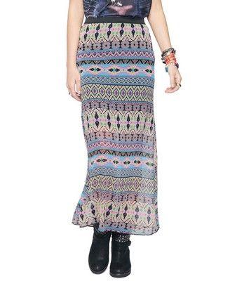 Southwest Print Maxi Skirt  forever 21