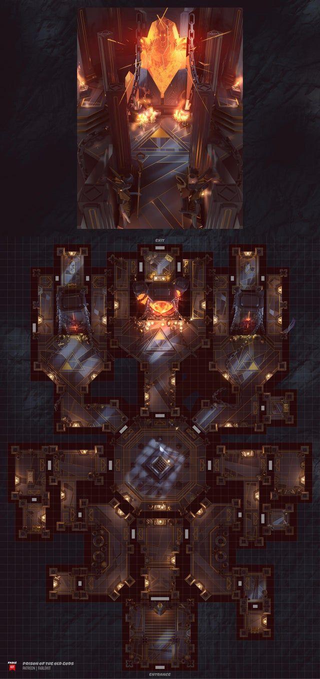 Ancient God Prison [42X58] [Battlemap]