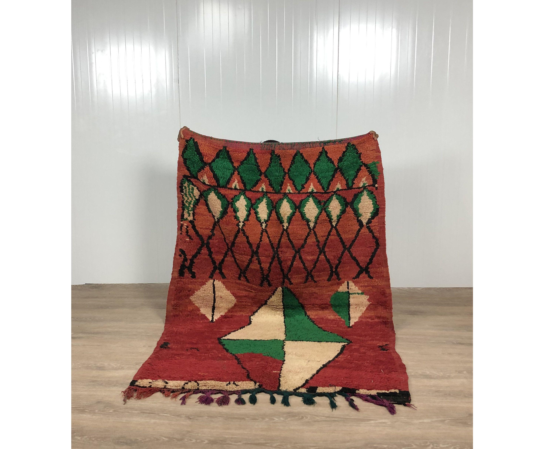 Boujaad Rug Moroccan Rug Vintage Beni Ourain Rug Teppich Marokko Berber Carpet Wollteppich Al Pink Moroccan Rugs Grey Moroccan Rug Colorful Moroccan Rugs