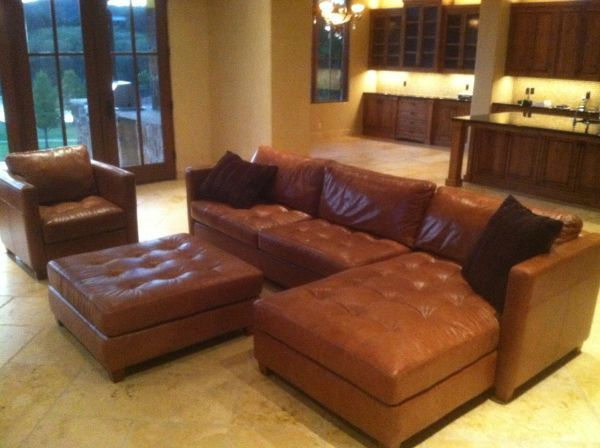 New Top Of The Line Leather Sectional Couch 5500