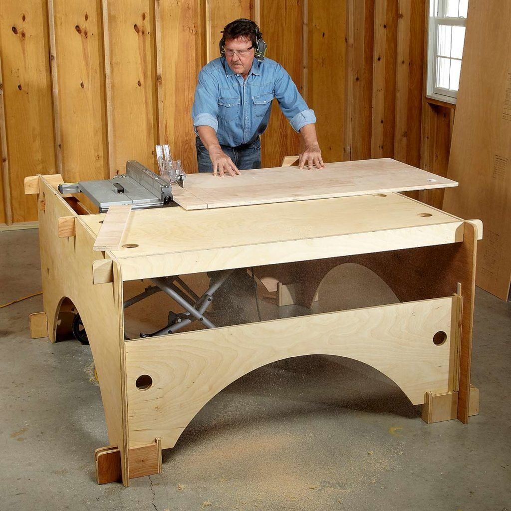 DIY Flip Top Cart for Miter Saw and Planer Diy table saw
