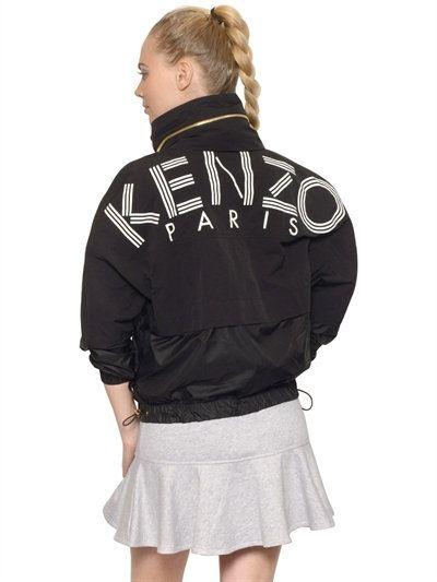 15ea23c8baa5 KENZO Logo Print Layered Light Nylon Jacket, Black. #kenzo #cloth #casual  jackets