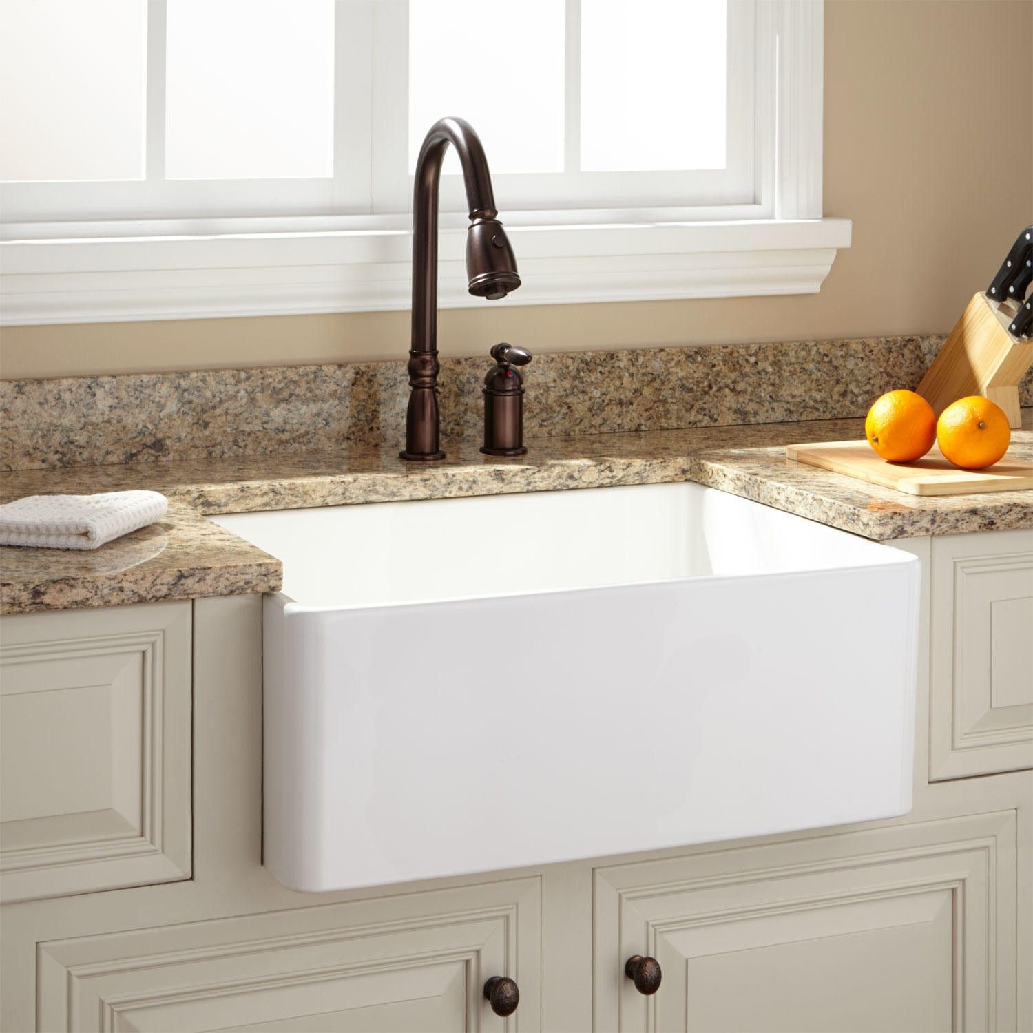 Etonnant Apron Front Fireclay Sink Signature Hardware In Proportions 1500 X 1500 26  Baldwin Fireclay Farmhouse Sink   Farmhouse Kitchen Sink, Along With The  Other A