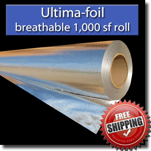 Radiant Barrier Ultima Foil 1 000 Sf Breathable 4 Feet X 250 Feet Radiant Barrier Foil Insulation Attic Flooring