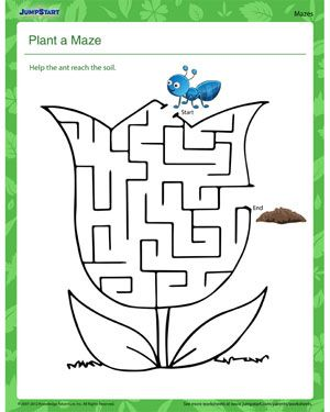 Plant a Maze! - Free science worksheet on plants   Recipes to Cook ...