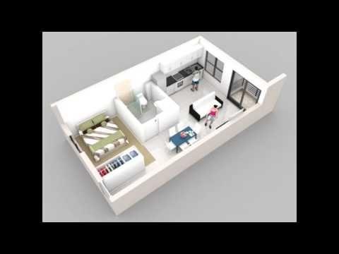 100 ideas apartamentos peque os y modernos espacios for Diseno de apartamento de una habitacion