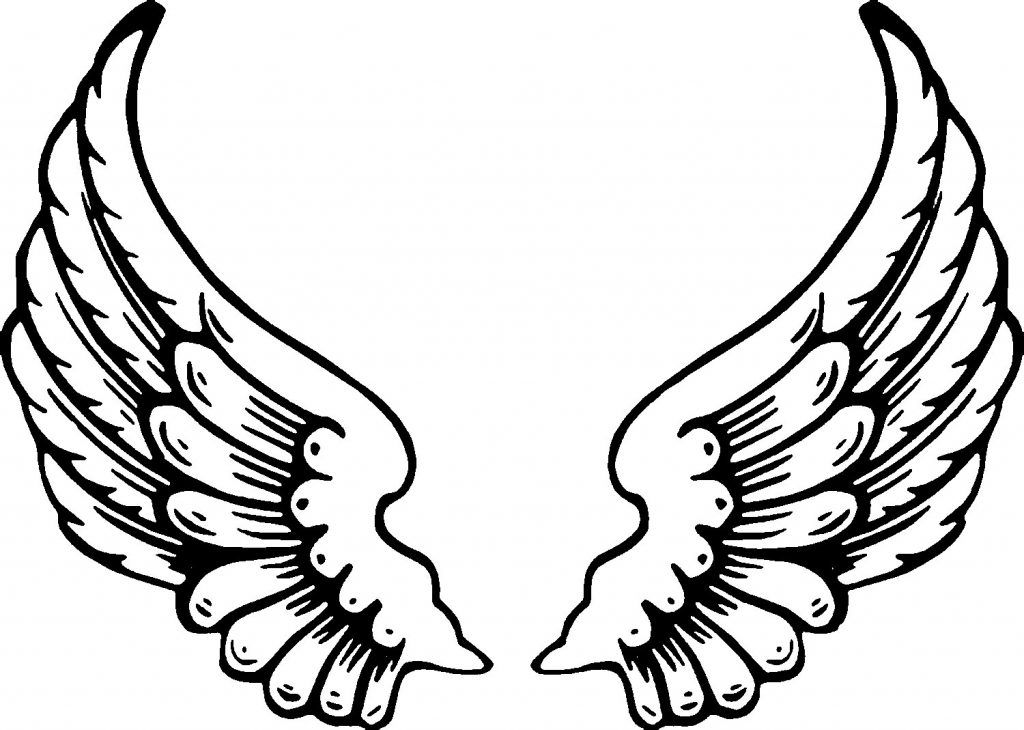 Tattoo Coloring Pages For Adults Best Coloring Pages For Kids Angel Wings Tattoo Stencil Angel Wings Clip Art Wings Drawing