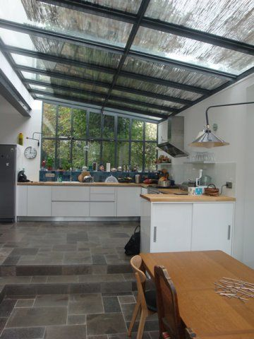 Cuisine verri re donnant sur jardin veranda cuisine Verriere jardin