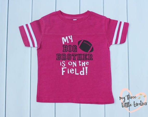 7ba58aabc06 Sibling Shirt for Football, Toddler Girl Sports Shirt, Shirts for Little  Sisters, Customized Sibling