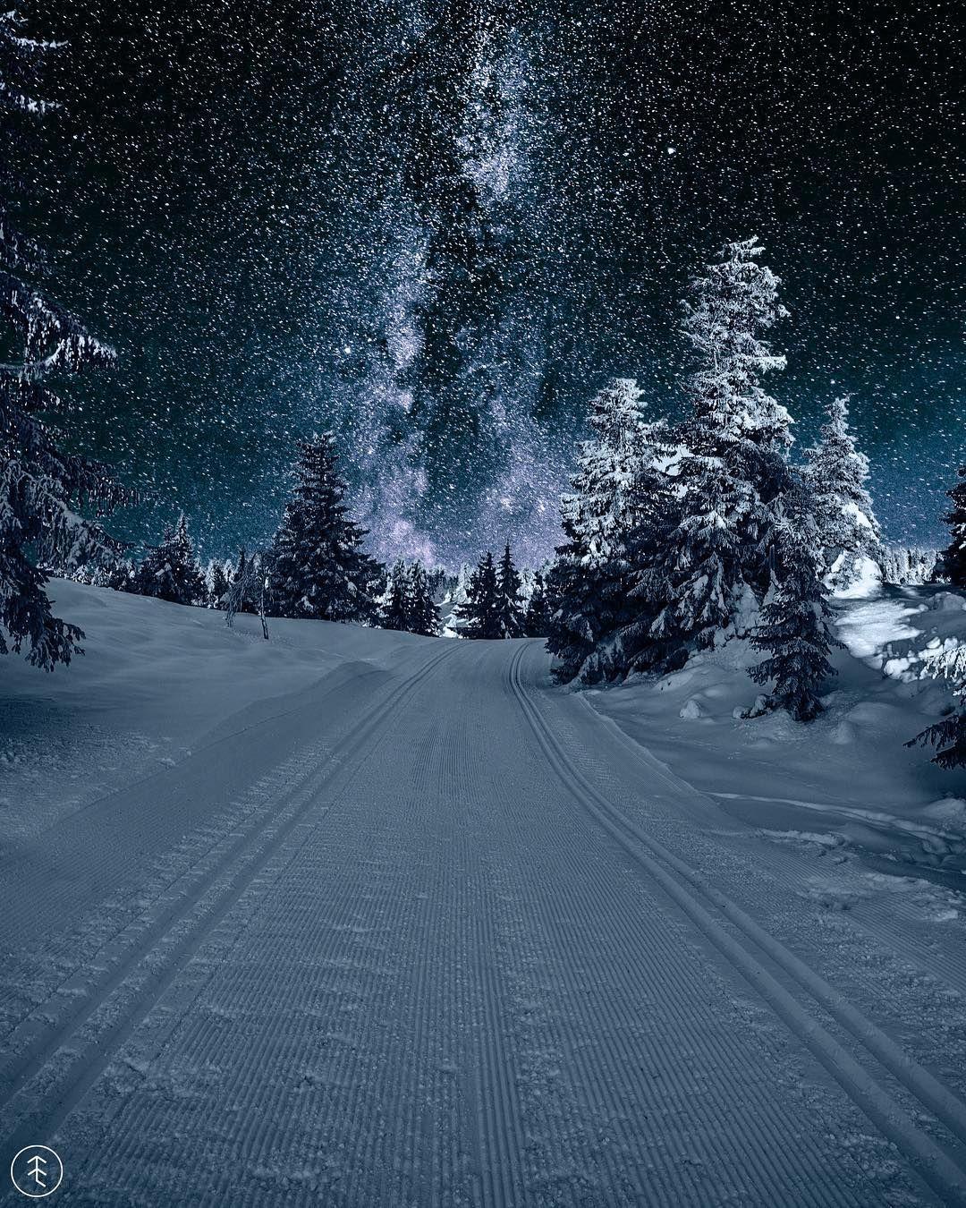 Night Skiing Austlid Norway By Sondre Eriksen