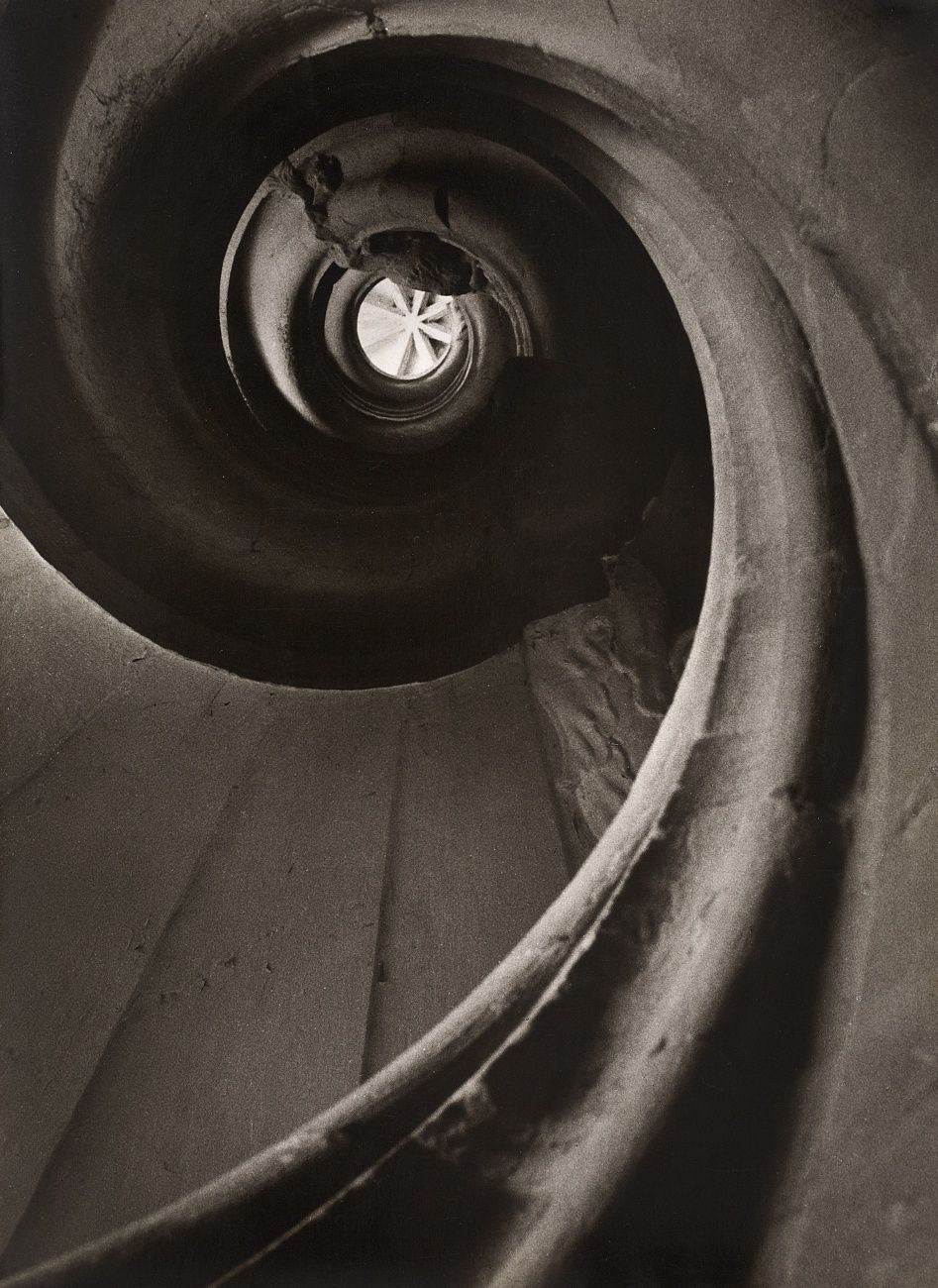 Spiral staircase in Bergzabern, 1950-1959, Ruth Hallensleben. Germany (1898 - 1977)