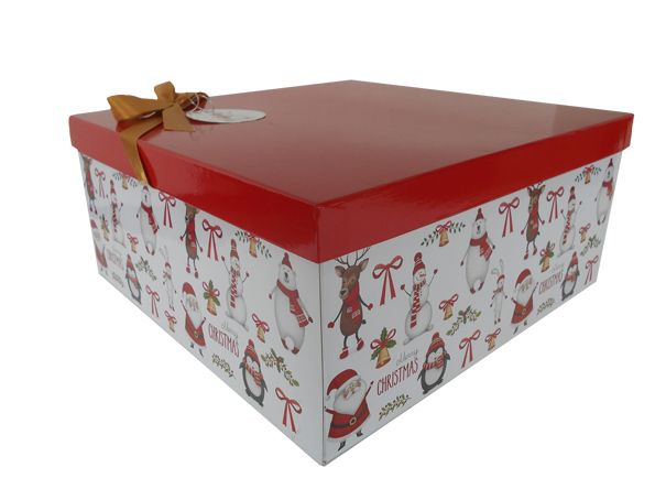 this gift box kit has everything you need to make a lovely christmas gift hamper