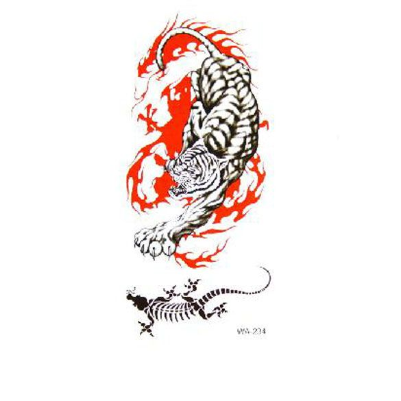 ef21ac4ca New Arrival Fashion 10pcs Temporary Adult Tattoos Personalized Temporary  Tattoo Tiger Scorpion
