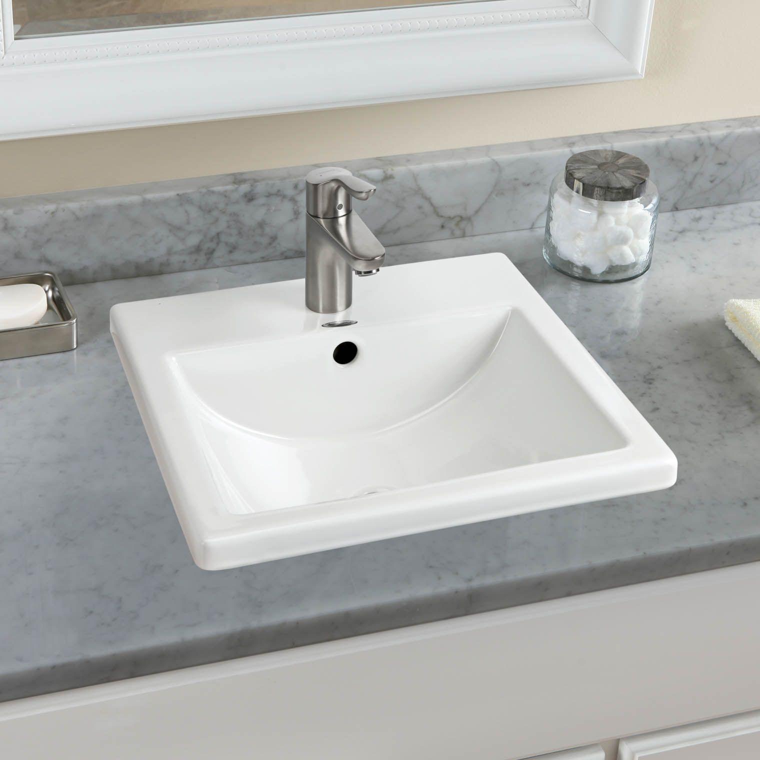 Studio Carre 16 3 8 Drop In Bathroom Sink For Single Hole