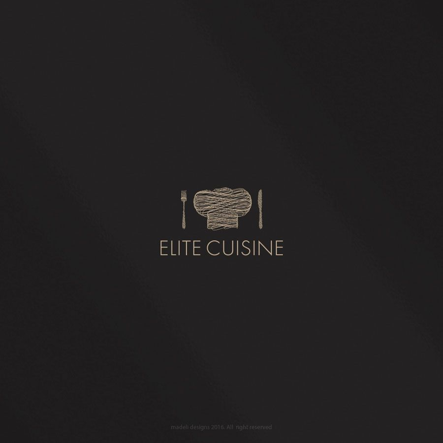 Elite Cuisine 2016 Corporate Dining Logo Professional Upmarket Prepossessing Kitchen Design Logo Design Inspiration