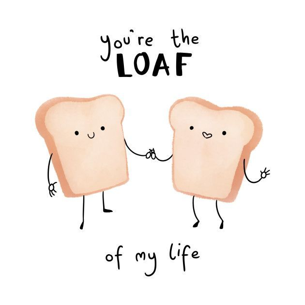 'Loaf of My Life Pun' Sticker by punnybone