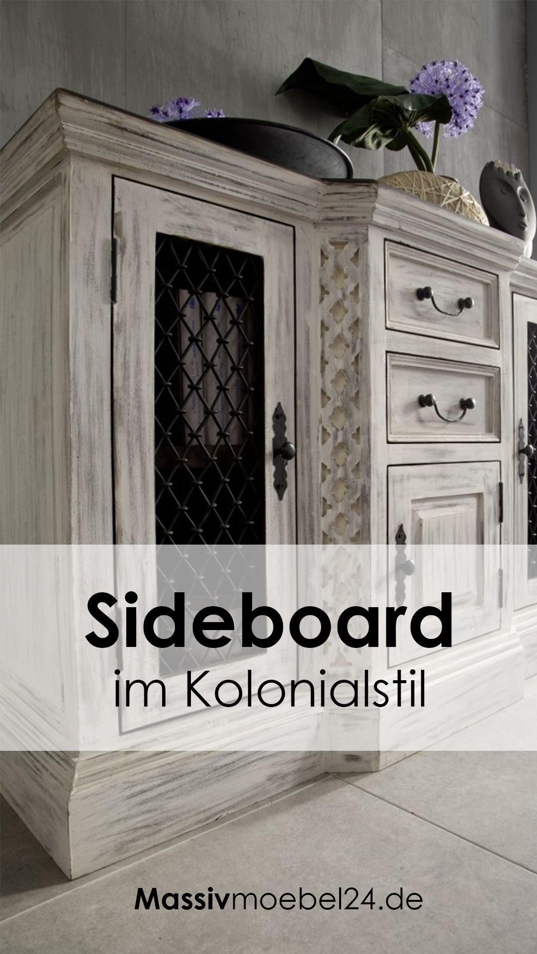 Sideboard Landhaus Weiss Versandfrei Kaufen Massivmoebel24 Sideboard Kommode Weiss Landhaus Kolonialstil