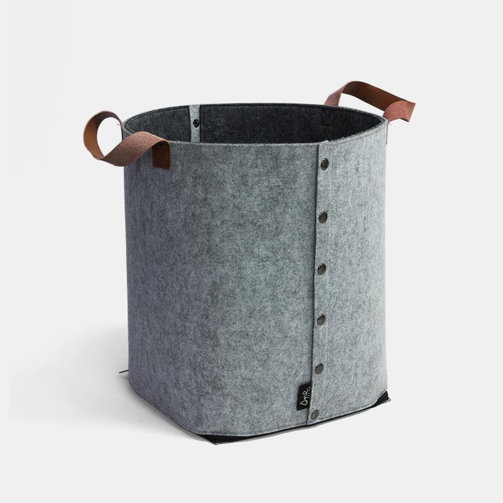 Felt basket | lagre | gray