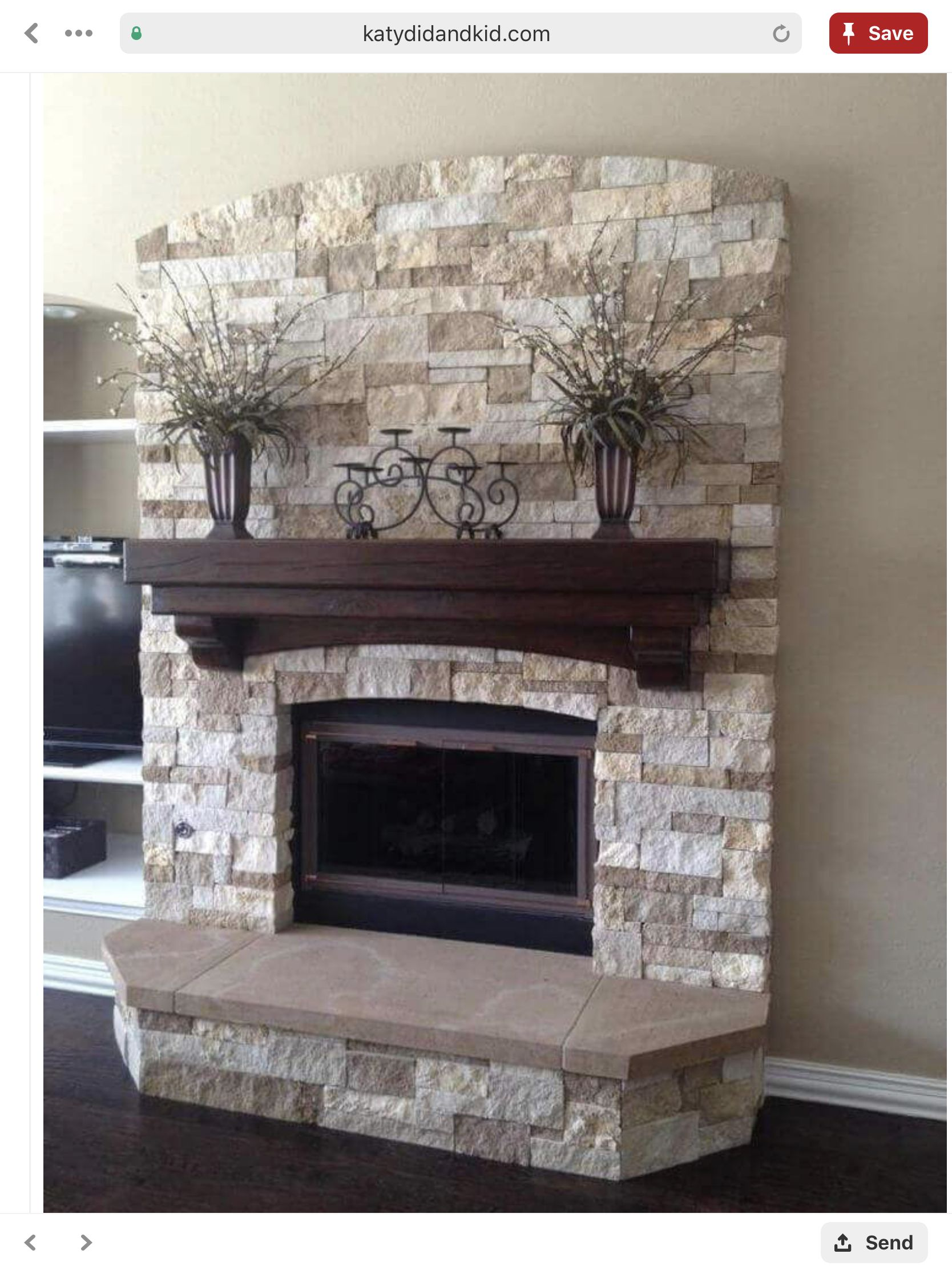 Two Tone Brick Color Home Fireplace Fireplace Remodel Fireplace Makeover