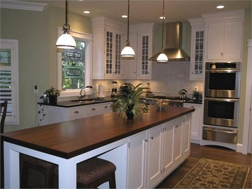 Love The Look Of Dark Countertop With White Cabinets