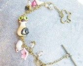 Bracelet chat siamois, m�tal bronze : Bracelet par boucles-d-or sur ALittleMarket