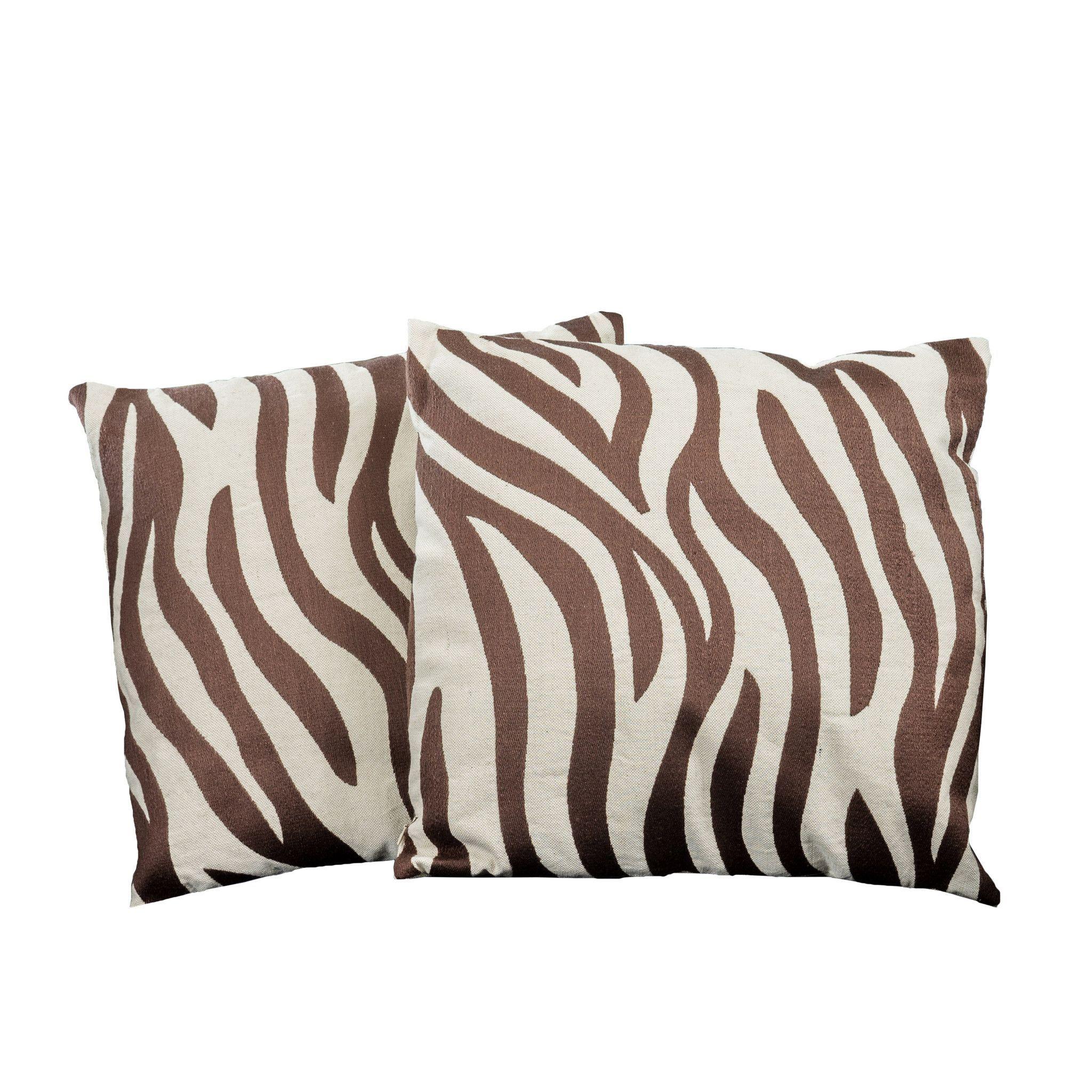 Fantastic 18 Brown Zebra Print Decorative Throw Pillows Set Of 2 Uwap Interior Chair Design Uwaporg