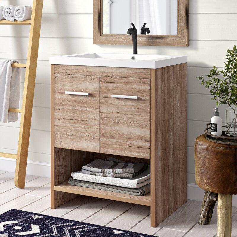 645 Clayton Union Rustic Hurt 24 Single Bathroom Vanity Set Wayfair Single Bathroom Vanity Bathroom Vanity Vanity Set