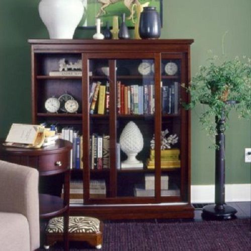 sliding glass door bookcase for living room - Bookcase With Glass Doors. Image Of Picture Of Glass Door Bookcase