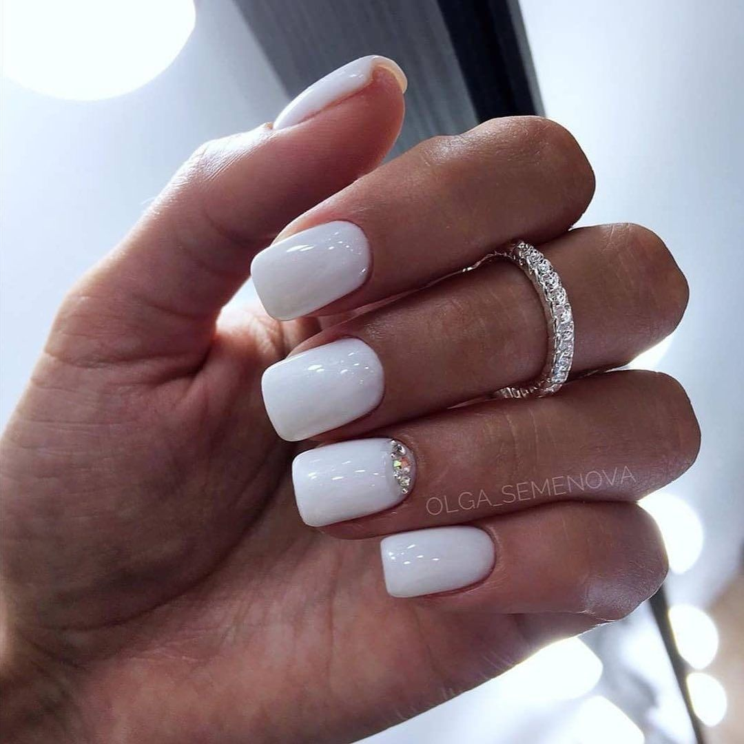 30 Cute White Color Nails For Girls In 2020 Summer Ibaz In 2020 Wedding Nail Polish Work Nails Nail Polish Designs