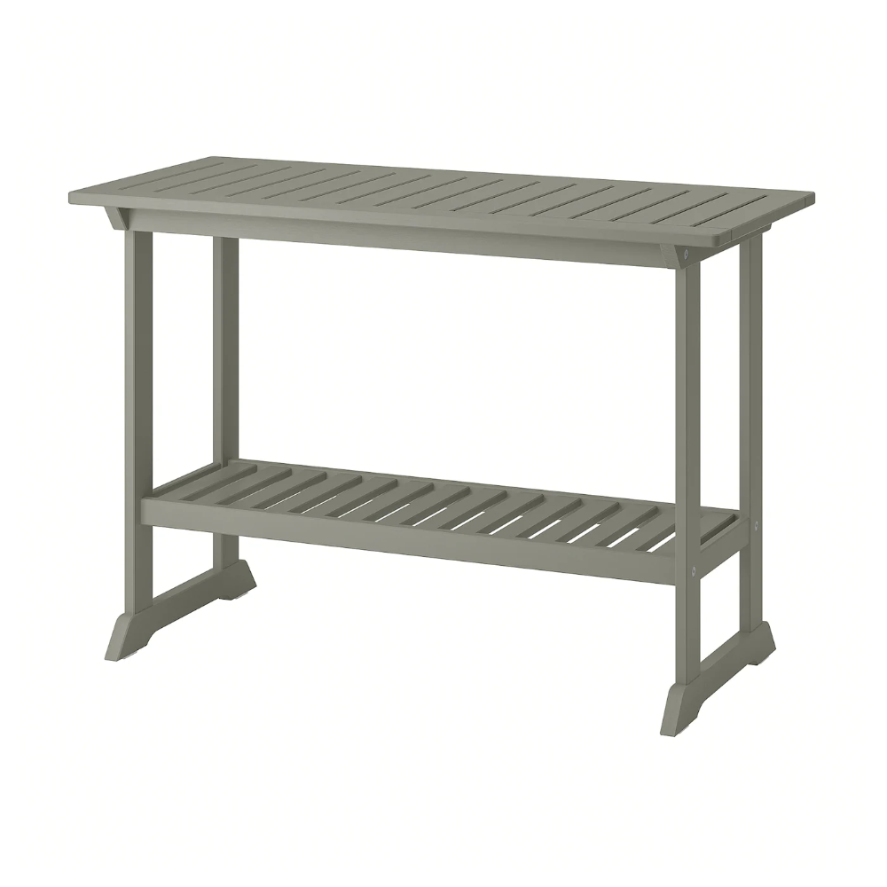 Bondholmen Console Table Outdoor Gray Stained 43 3 4x18 1 8 Ikea In 2020 Outdoor Console Table Console Table Outdoor Dining Table