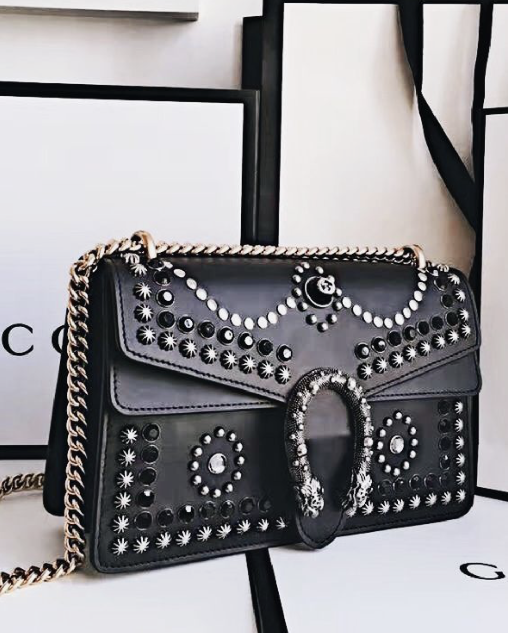 90c5d0beefd gucci dionysus studded leather crossbody bag | shoes + bags | Bag ...