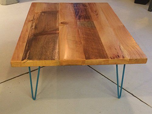 Handmade Furniture Hair Pin Leg Coffee Table With Reclaimed Wood Top