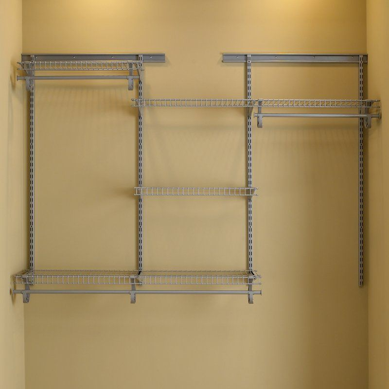 The ClosetMaid ShelfTrack Closet Organizer Kit Offers Configuration And  Shelf Location Adjustability. The ShelfTrack System Is An Adjustable  Standards And ...