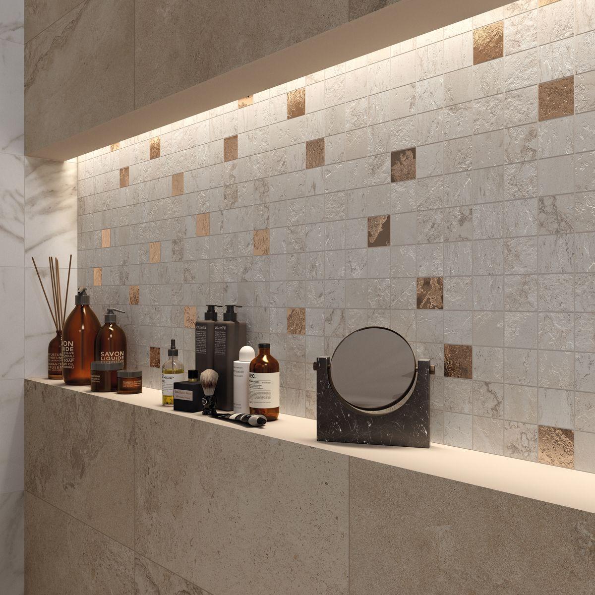 Alpes raw mosaico quadretti glam ivory rende preziosa la nicchia alpes raw mosaico quadretti glam ivory rende preziosa la nicchia nella parete rivestita con alpes raw ceramic tile dailygadgetfo Gallery