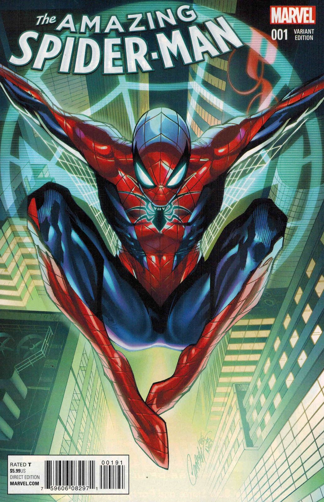 Details about Amazing Spider-Man #1 1:50 J Scott Campbell
