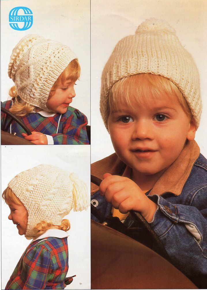 baby / childs / childrens aran hats knitting pattern pdf cable hats ...
