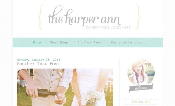Harper Ann Blogger Template - Luvly Marketplace | Premium Design Resources #blogger #template